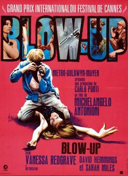Top des 100 meilleurs films thrillers n°15 - Blow up - Michelangelo Antonioni